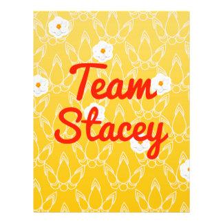 Team Stacey Flyer Design