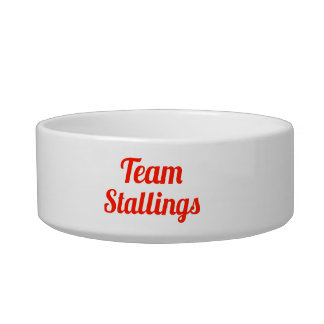 Team Stallings Pet Bowls