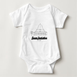 Team Statistics (Normal Distribution Curve Stats) Baby Bodysuit