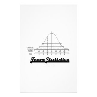 Team Statistics Normal Distribution Curve Stats Customized Stationery