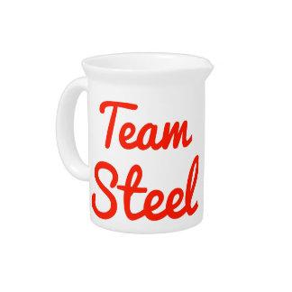 Team Steel Drink Pitchers