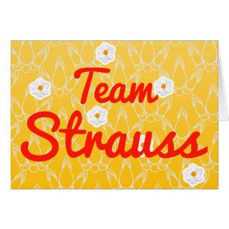 Team Strauss Card