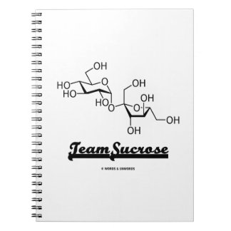 Team Sucrose Chemical Molecule Structure Spiral Notebook