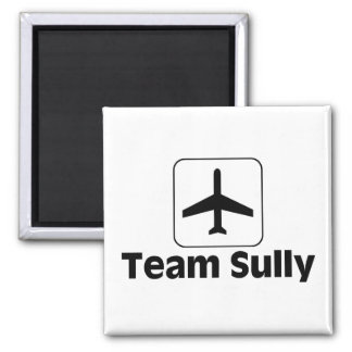 Team Sully 2 Inch Square Magnet