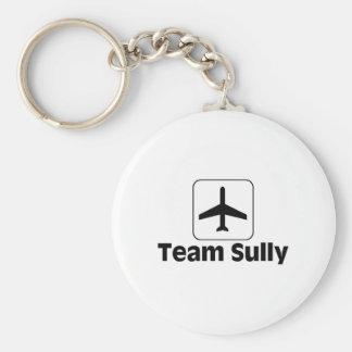 Team Sully Basic Round Button Keychain