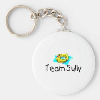 Team Sully Duck Basic Round Button Keychain