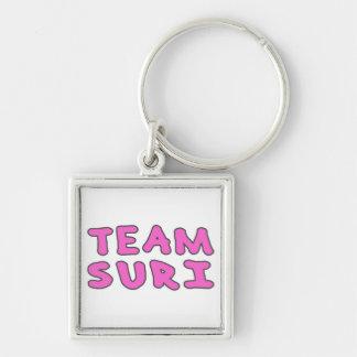 Team Suri (Kids Print) Silver-Colored Square Keychain