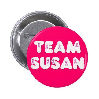 Team Susan 2 Inch Round Button