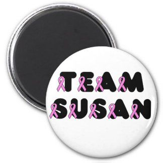 Team Susan 2 Inch Round Magnet