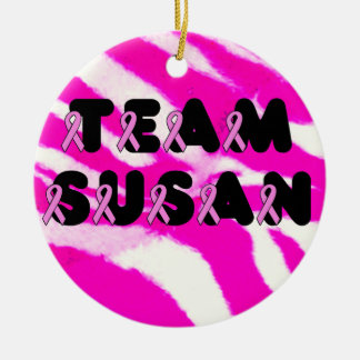 Team Susan Double-Sided Ceramic Round Christmas Ornament