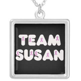 Team Susan Square Pendant Necklace