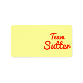 Team Sutter Personalized Address Labels
