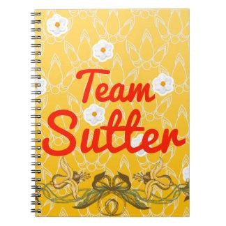 Team Sutter Spiral Notebook