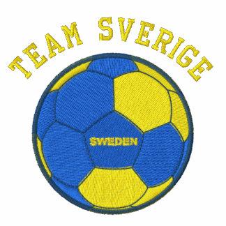 TEAM SVERIGE Swedish Soccer Sports Embroidered Hoodie
