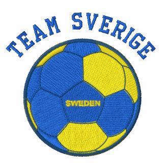 TEAM SVERIGE Swedish Sports Embroidered Hooded Sweatshirt