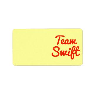 Team Swift Address Label