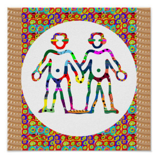 Team Symbolic Colorful Art Insect Biology Decor