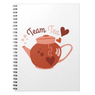 Team Tea Spiral Note Book