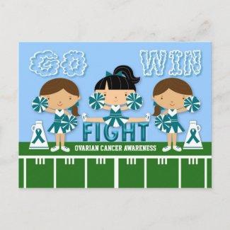 TEAM TEAL Ovarian Cancer postcard postcard