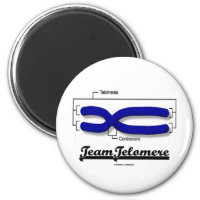 Team Telomere (Biology Humor) 2 Inch Round Magnet