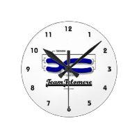 Team Telomere (Biology Humor) Round Wallclock