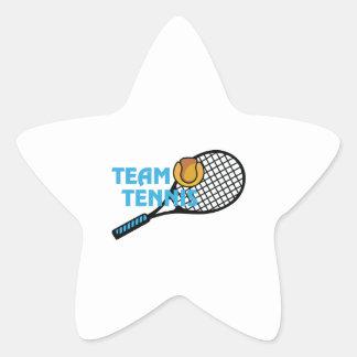 TEAM TENNIS STAR STICKER