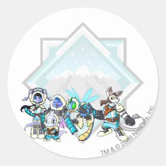Team Terror Mountain Group Classic Round Sticker