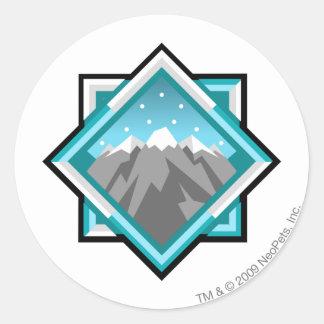 Team Terror Mountain Logo Classic Round Sticker