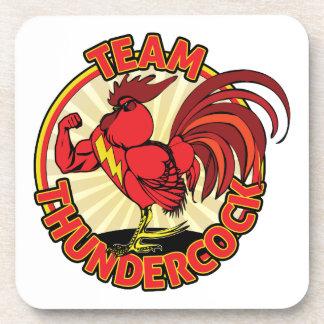 Team Thundercock Merchandise Beverage Coaster