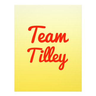 Team Tilley Personalized Flyer