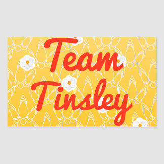 Team Tinsley Rectangle Stickers