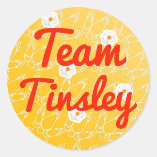 Team Tinsley Round Stickers