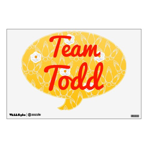 Team Todd Room Decal