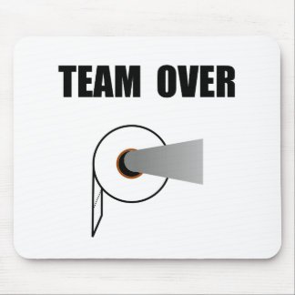 Team Toilet Paper Over Mouse Pad