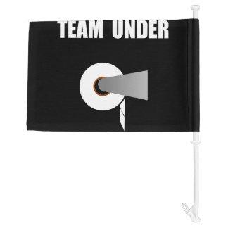 Team Toilet Paper Under Car Flag