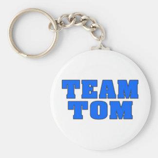 Team Tom Basic Round Button Keychain