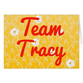 Team Tracy Card