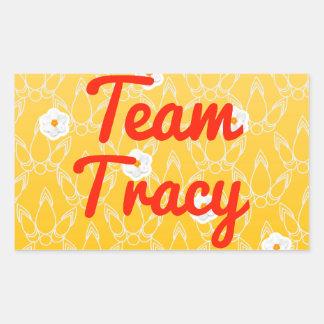 Team Tracy Rectangular Stickers