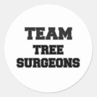 Team Tree Surgeons Round Sticker