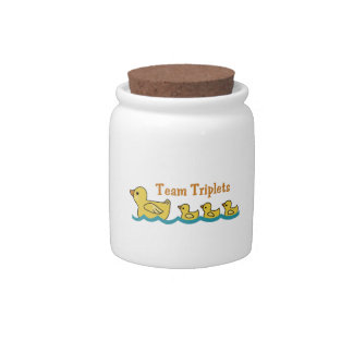 TEAM TRIPLETS CANDY JARS