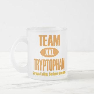 Team Tryptophan 10 Oz Frosted Glass Coffee Mug
