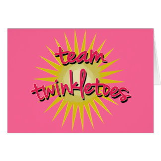 Team Twinkletoes with Starburst Greeting Card