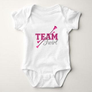 Team Twirl Baton Baby Bodysuit