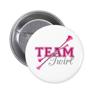Team Twirl Baton Pinback Button