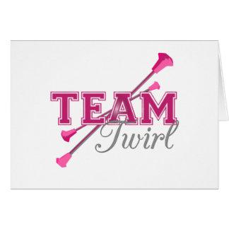 Team Twirl Baton Card