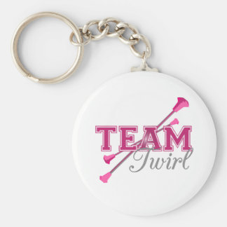 Team Twirl Baton Keychain