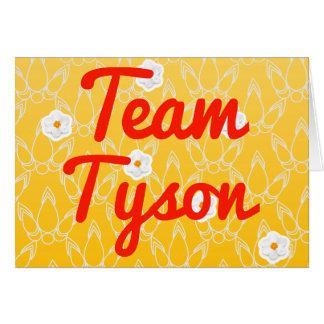 Team Tyson Card