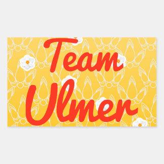 Team Ulmer Rectangular Sticker