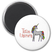 Team Unicorn Rainbow Magnet