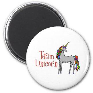 Team Unicorn Rainbow Magnet